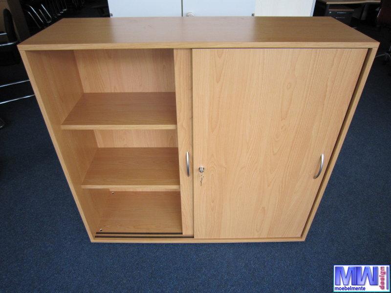 aktenschrank archivschrank highboard buche 120 cm breit 3 oh l348 ebay. Black Bedroom Furniture Sets. Home Design Ideas